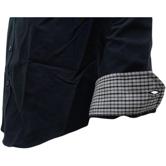 Ben Sherman Plain Oxford With Check Under Cuffs Shirt 48578 Thumbnail 8