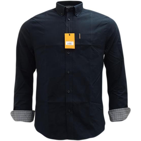 Ben Sherman Plain Oxford With Check Under Cuffs Shirt 48578 Thumbnail 9