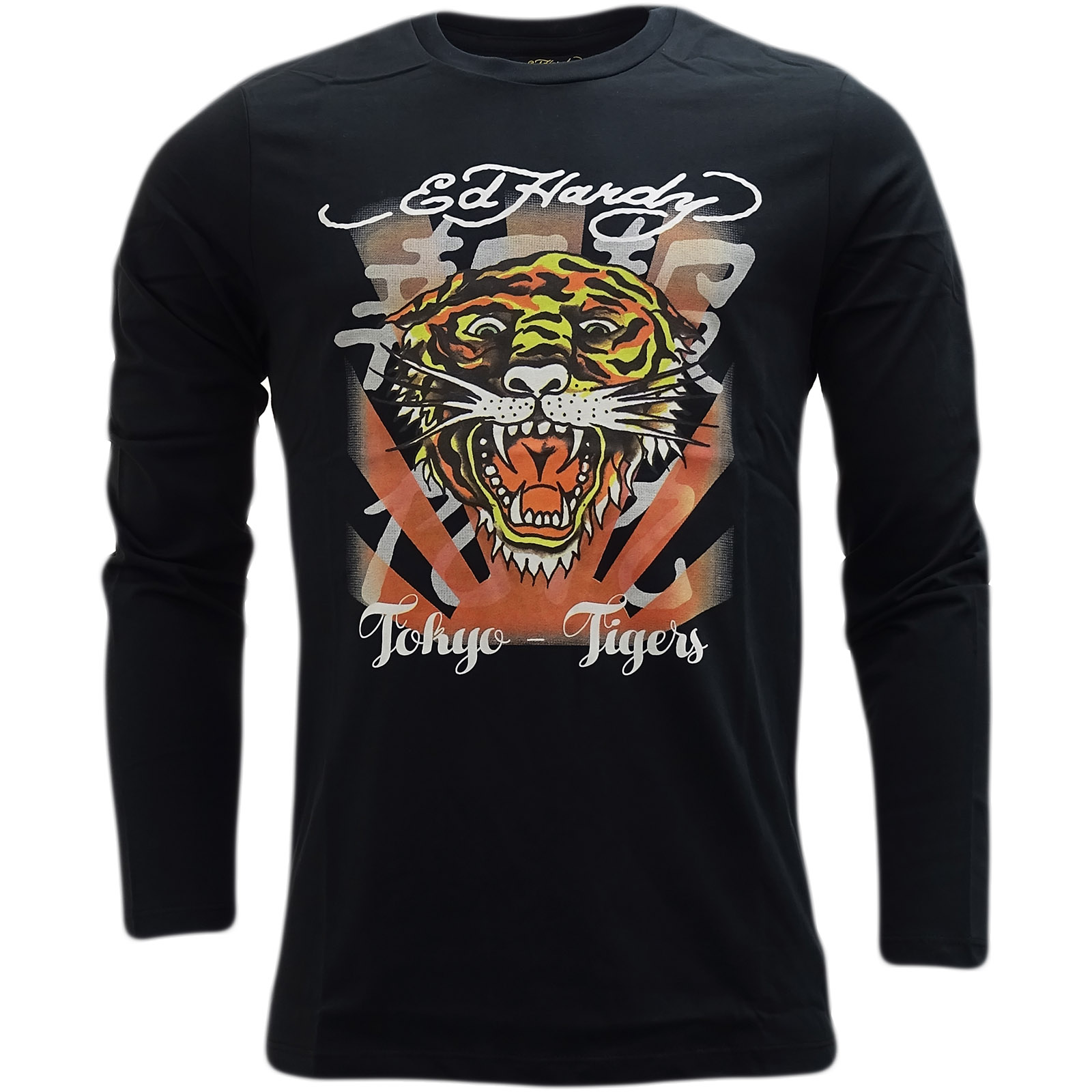 Design t shirt long sleeve - Ed Hardy Black Tiger Design Long Sleeve T Shirt Roar Japan