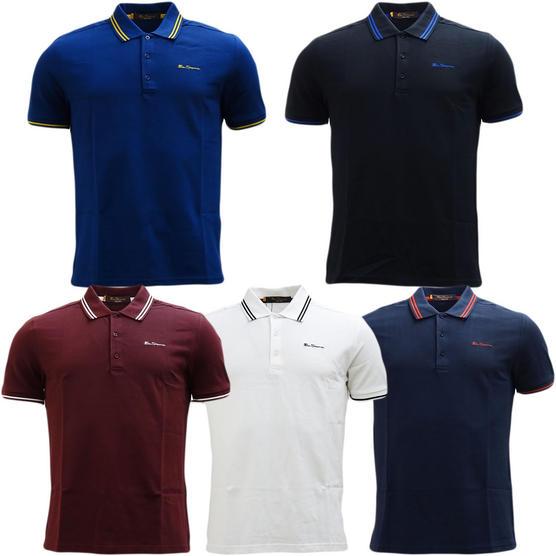 Ben Sherman Twin Tipping Pique Polo Shirt 48520 Thumbnail 1