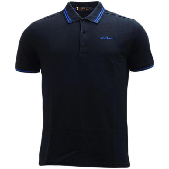 Ben Sherman Twin Tipping Pique Polo Shirt 48520 Thumbnail 5