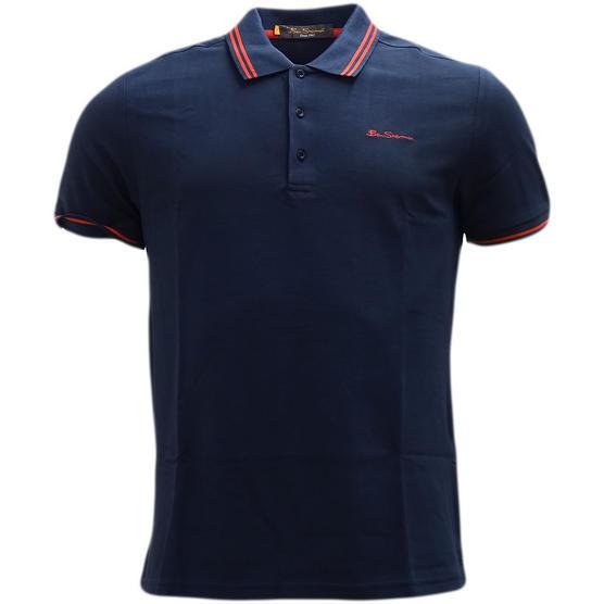 Ben Sherman Twin Tipping Pique Polo Shirt 48520 Thumbnail 6
