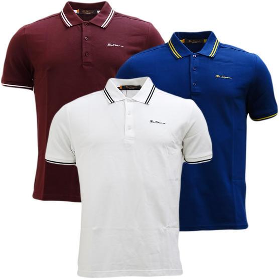 Ben Sherman Twin Tipping Pique Polo Shirt 48520 Thumbnail 7