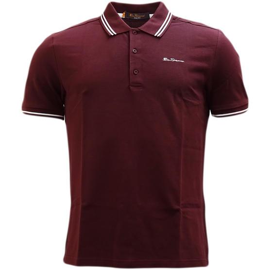 Ben Sherman Twin Tipping Pique Polo Shirt 48520 Thumbnail 2