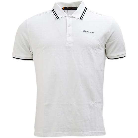 Ben Sherman Twin Tipping Pique Polo Shirt 48520 Thumbnail 3