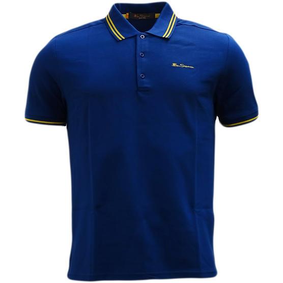 Ben Sherman Twin Tipping Pique Polo Shirt 48520 Thumbnail 4