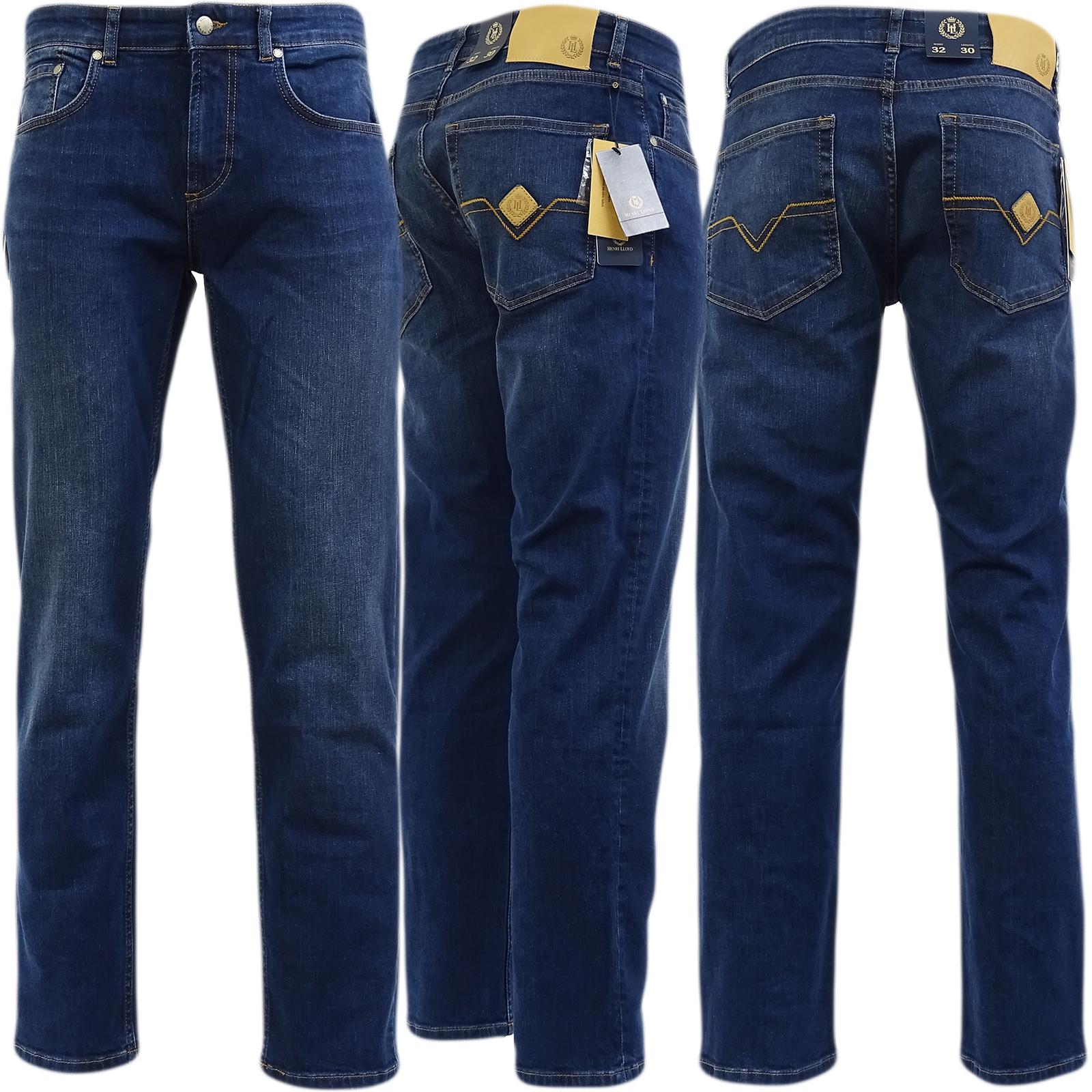 Henri Lloyd Stonewash Regular Fit - Zip Fly Denim Straight Leg Jean Manston - Vdw -