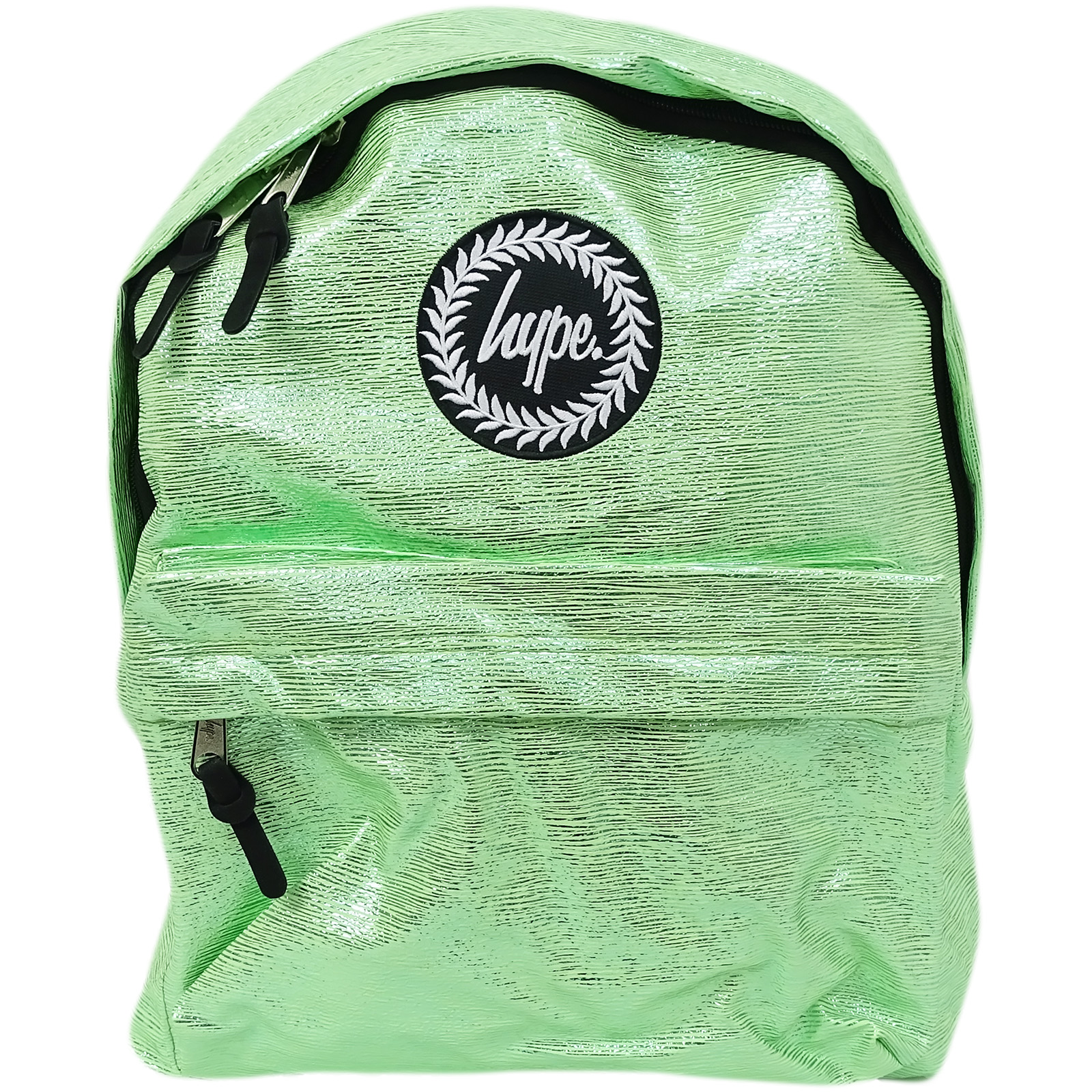 Hype Rucksack Thin Stripe Foil Bag Slime Foil