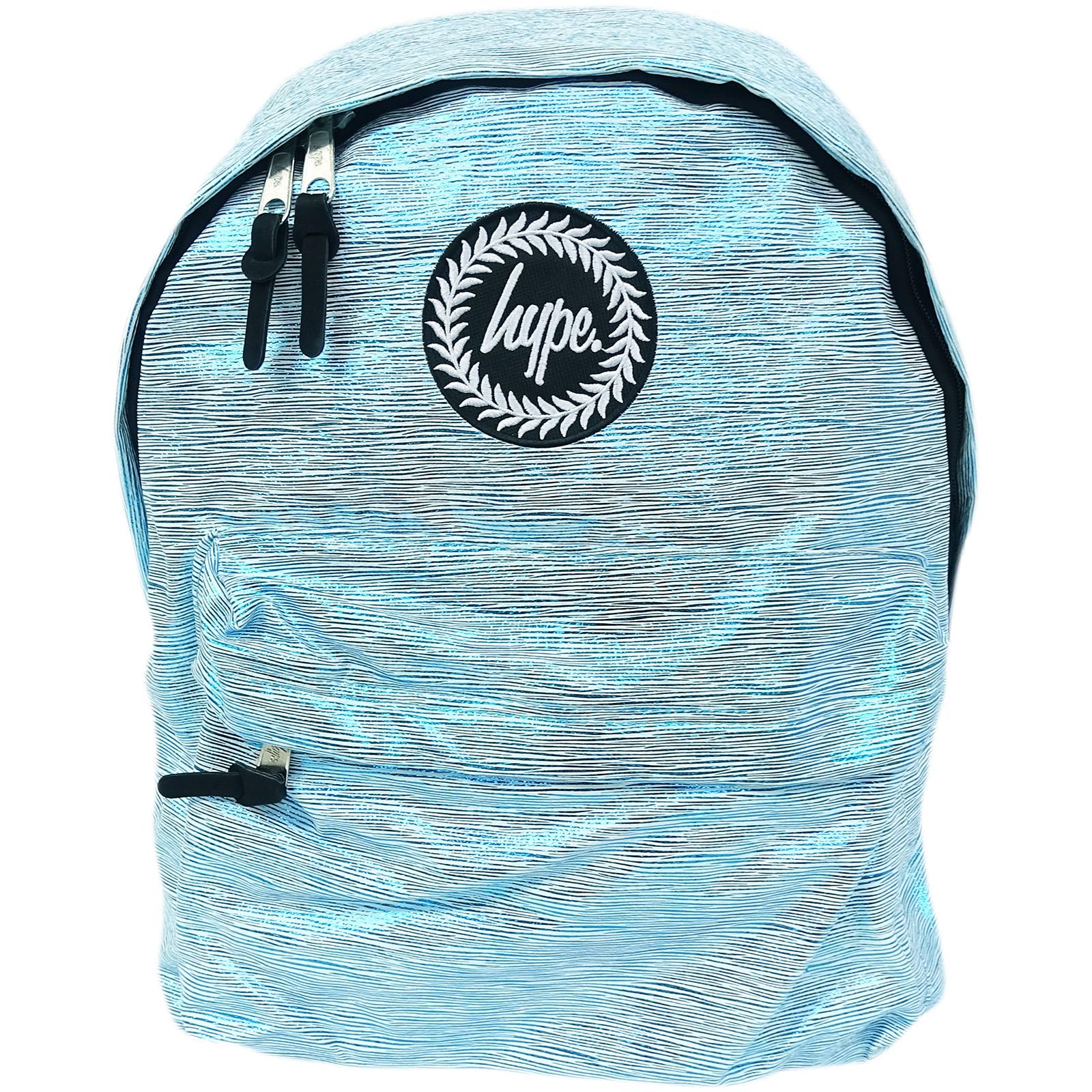 Hype Rucksack Thin Stripe Foil Bag Sky Foil