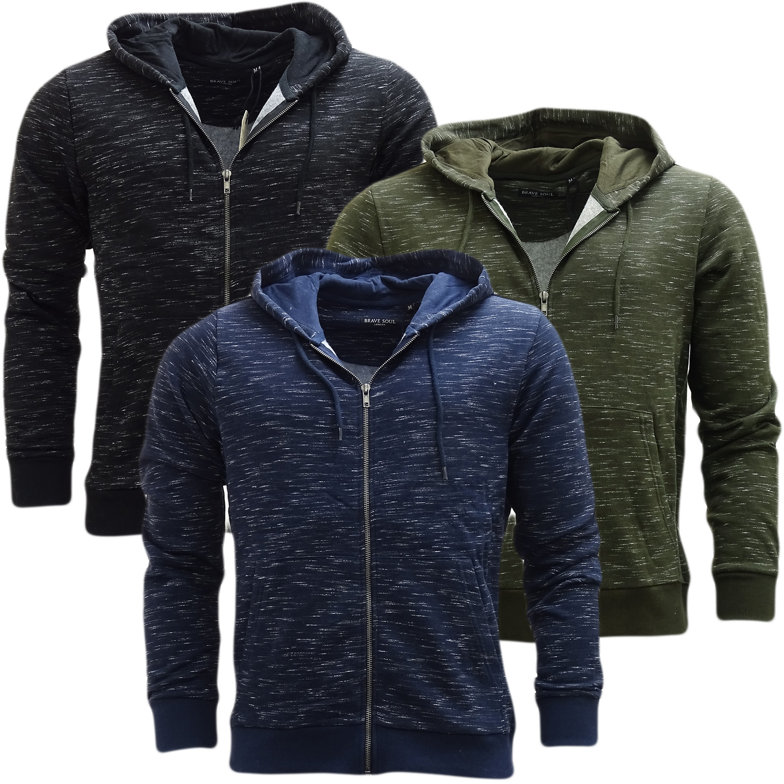 Brave Soul Full Zip Lightweight Hooded Jumper Territory