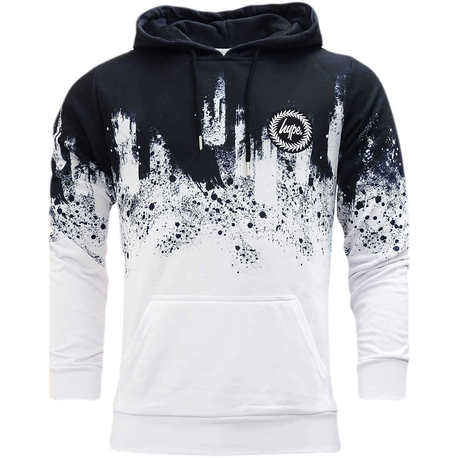 Hype Multi Overhead Hooded Sweatshirt Jumper Paint Smudge -
