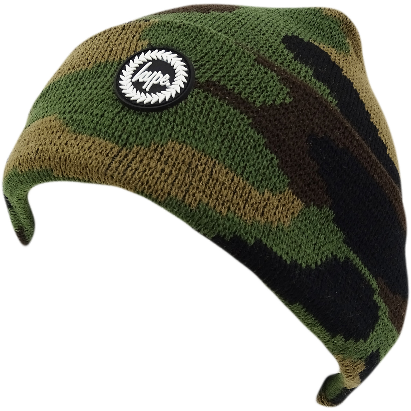Hype Multi Camouflage Winter Beanie / Winter Headwear Forest Camo