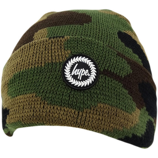 Hype Multi Camouflage Winter Beanie / Winter Headwear Forest Camo Thumbnail 3