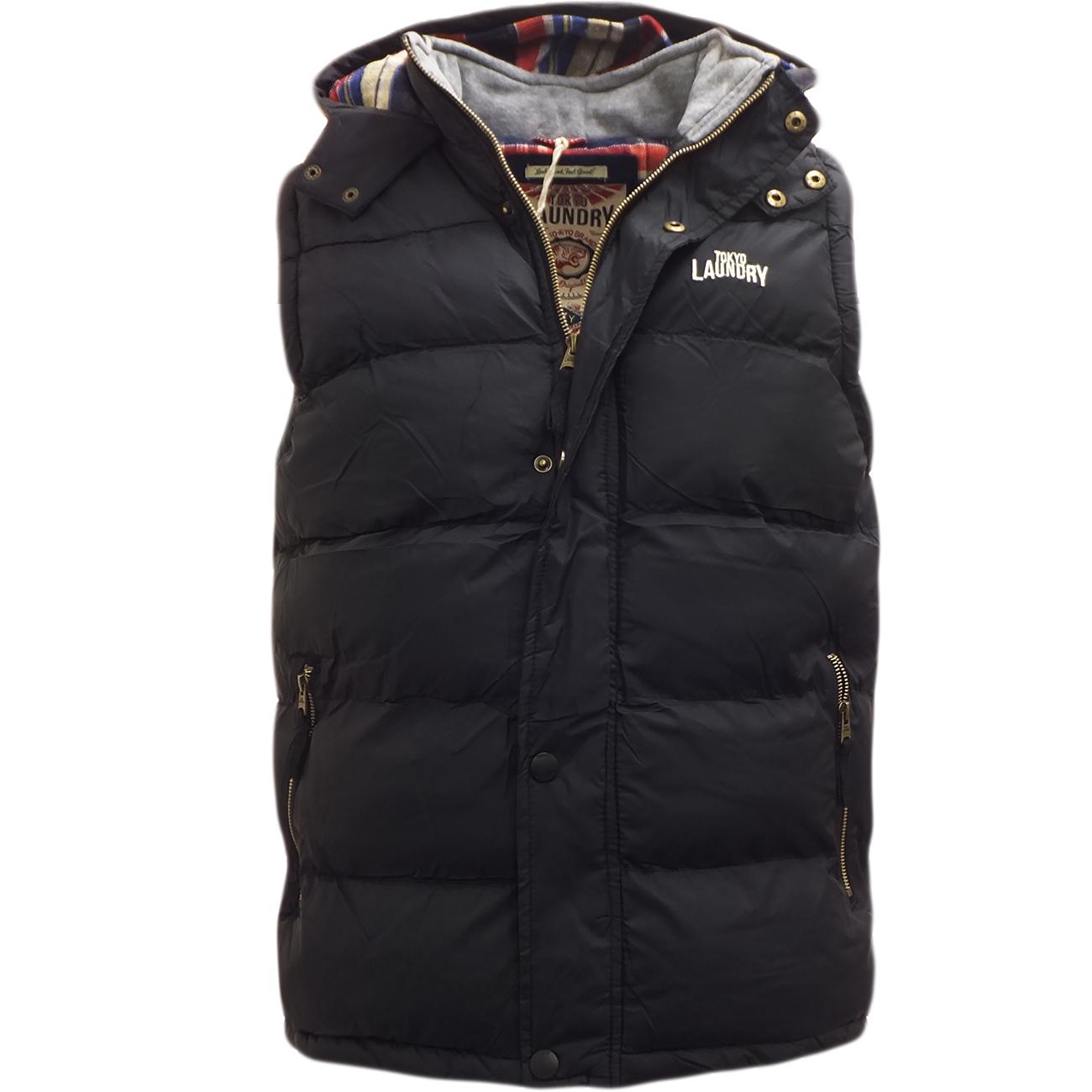 mens gilet tokyo laundry body warmer sleeveless coat. Black Bedroom Furniture Sets. Home Design Ideas