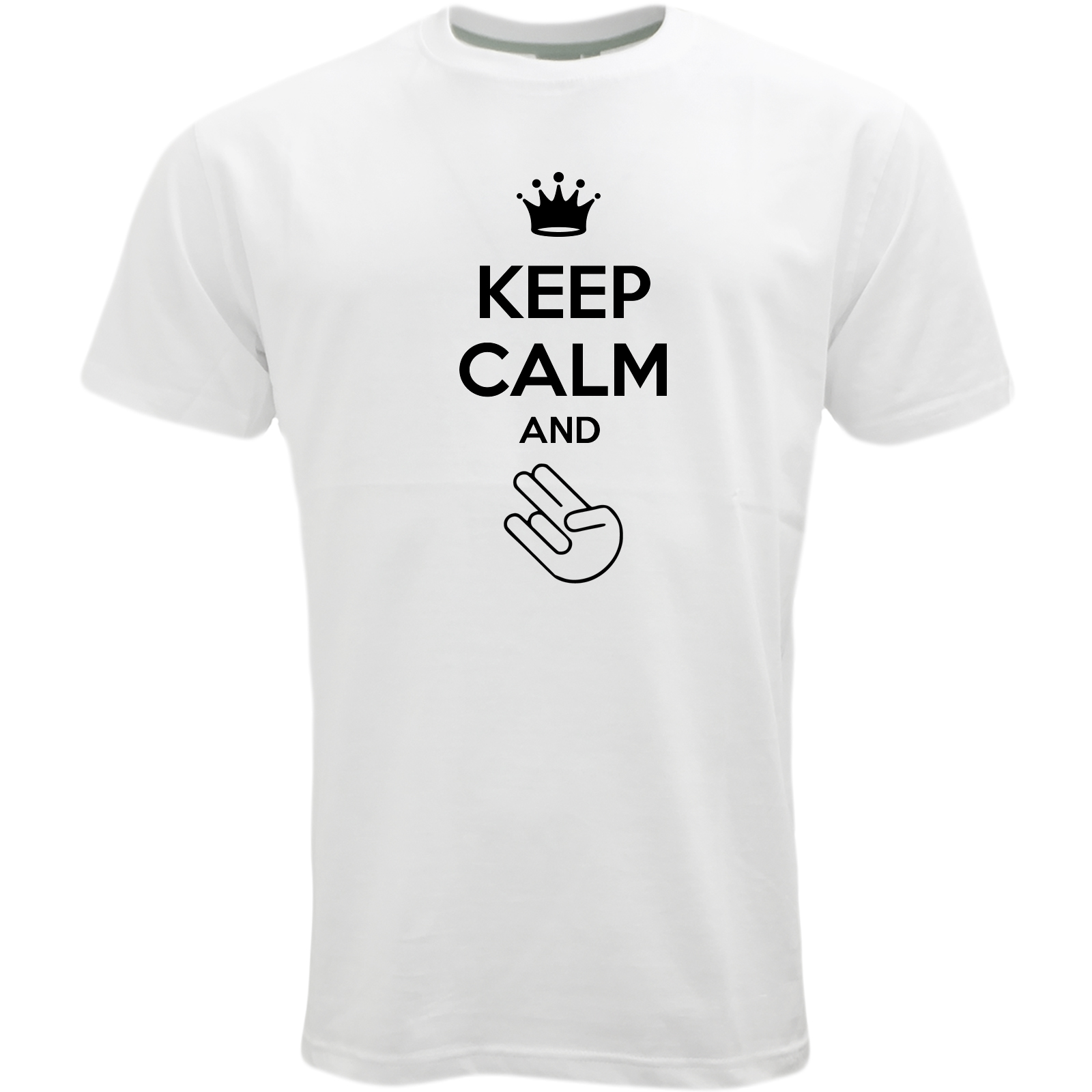 Custom Design White Keep Calm Logo T Shirt 65 Keep Calm 2