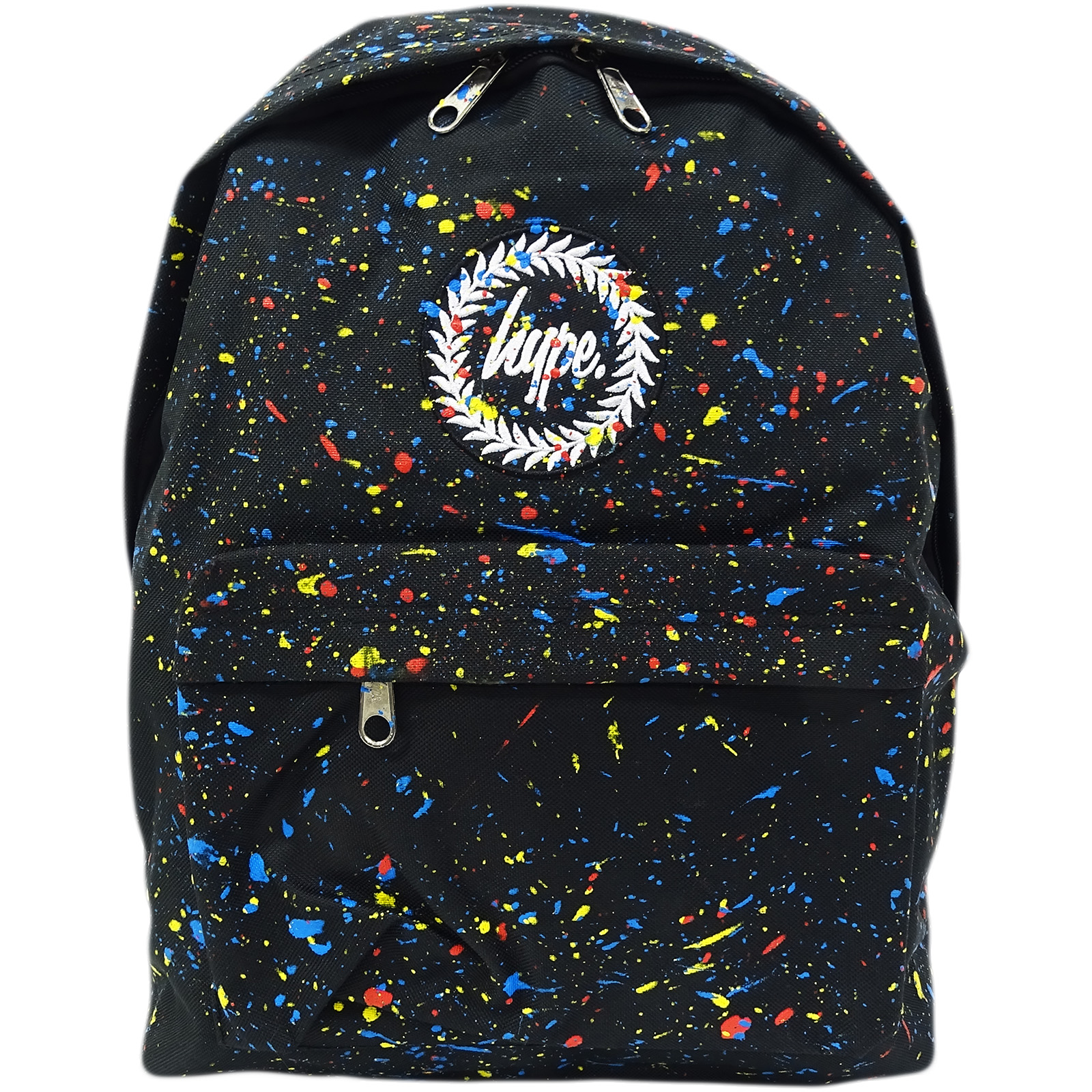 Hype Black Backpack / Rucksack Bag Primary Black