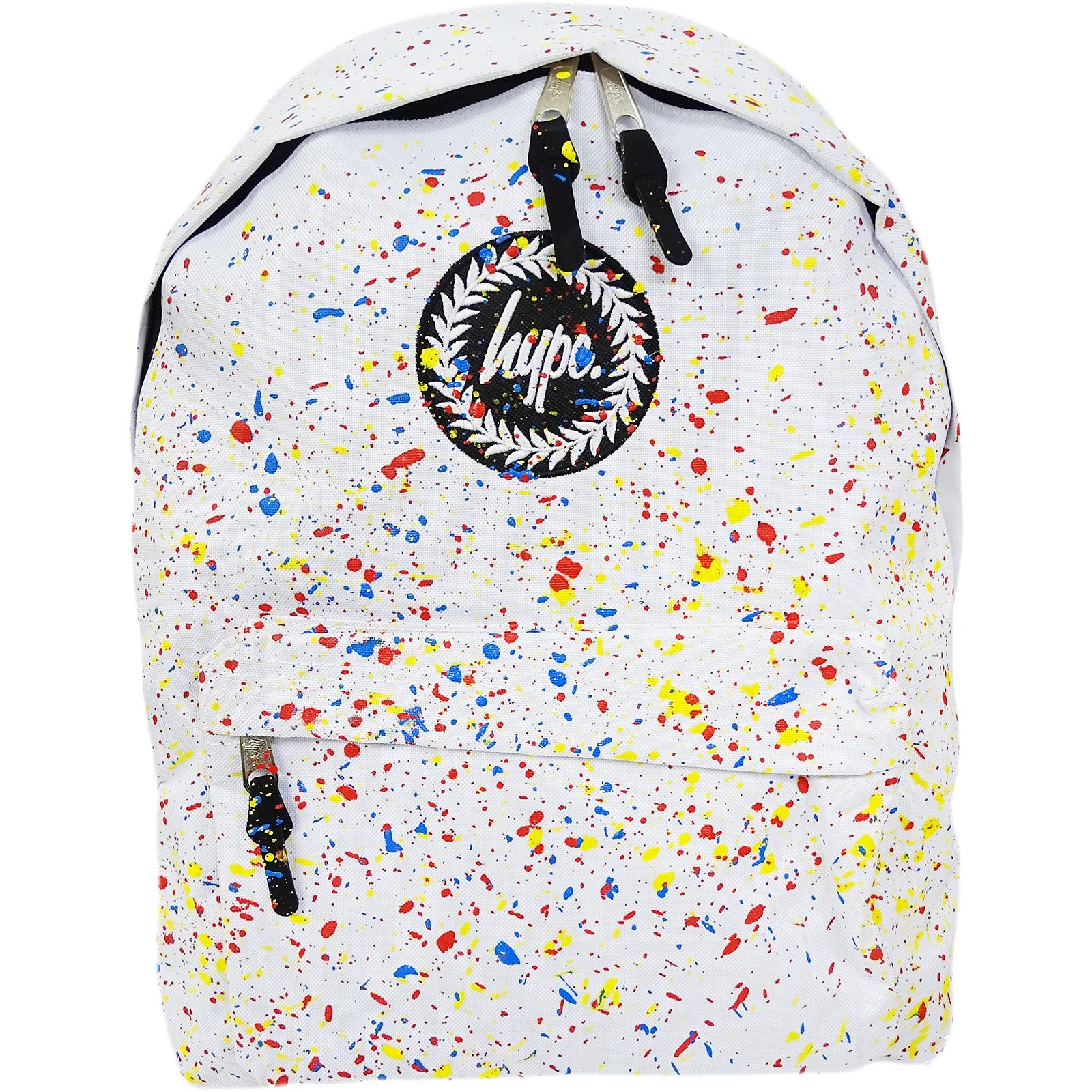 Hype White Backpack / Rucksack Bag Primary White