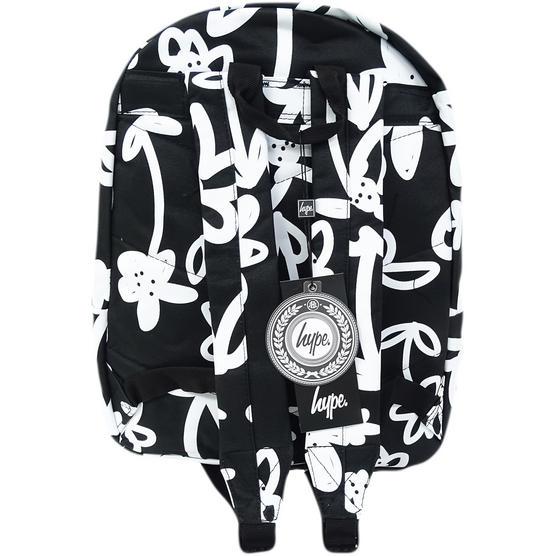 Hype Black / White Backpack / Rucksack Bag Hand Style Floral Thumbnail 2