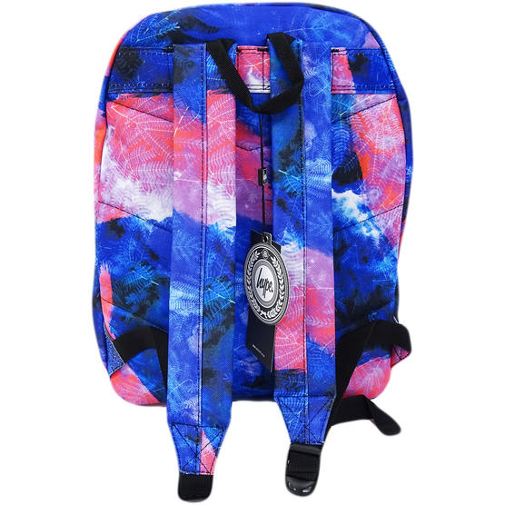 Hype Blue / Pink Backpack / Rucksack Bag Space Garden Thumbnail 2