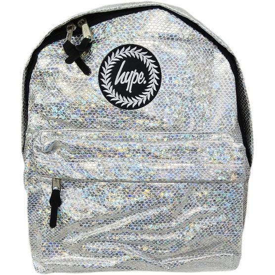 Hype Silver Backpack / Rucksack Bag Glitter Snake Thumbnail 1