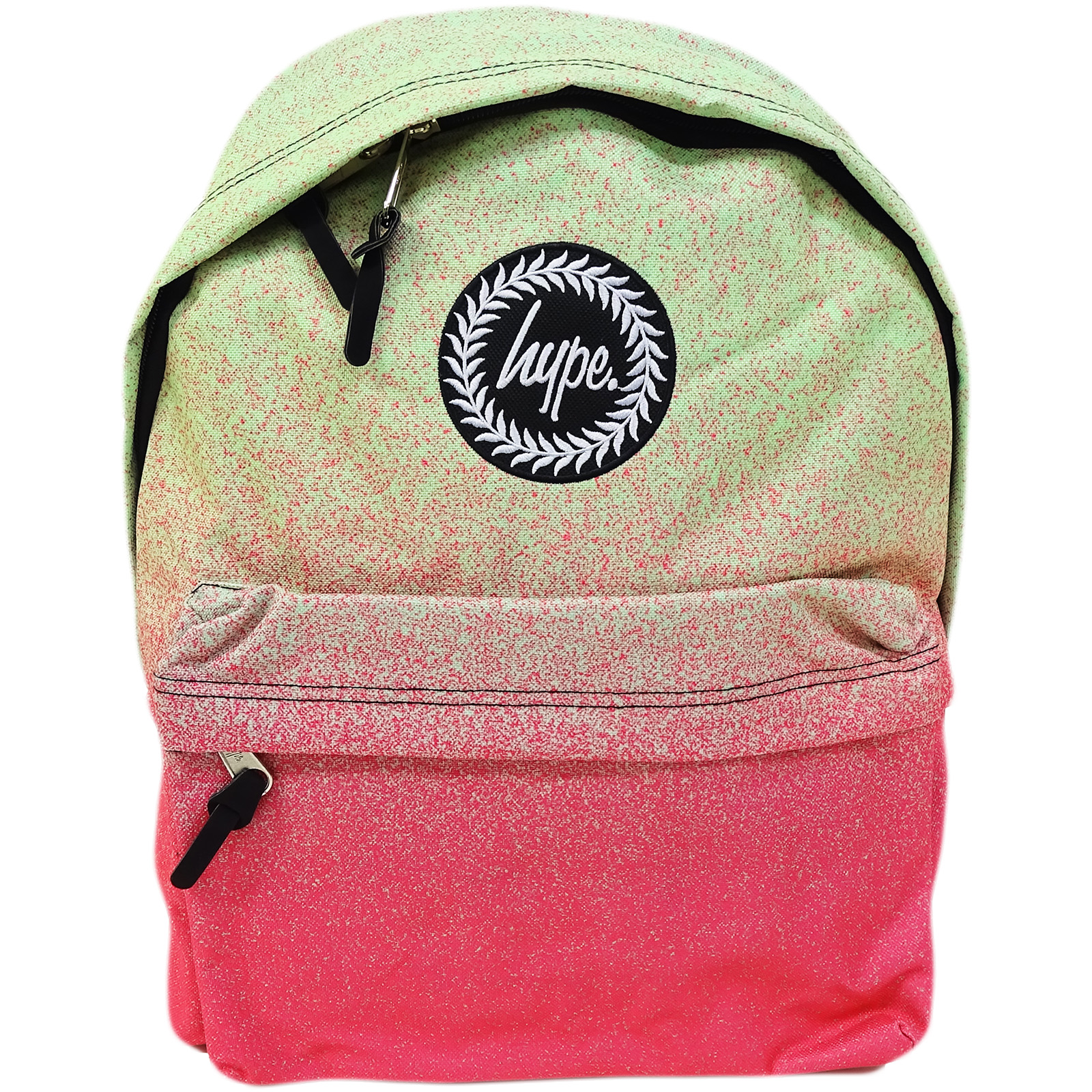 Hype Pink / Green Speckle Fade Backpack / Rucksack Bag Limeade