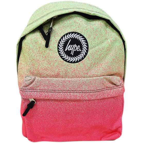 Hype Pink / Green Speckle Fade Backpack / Rucksack Bag Limeade Thumbnail 1