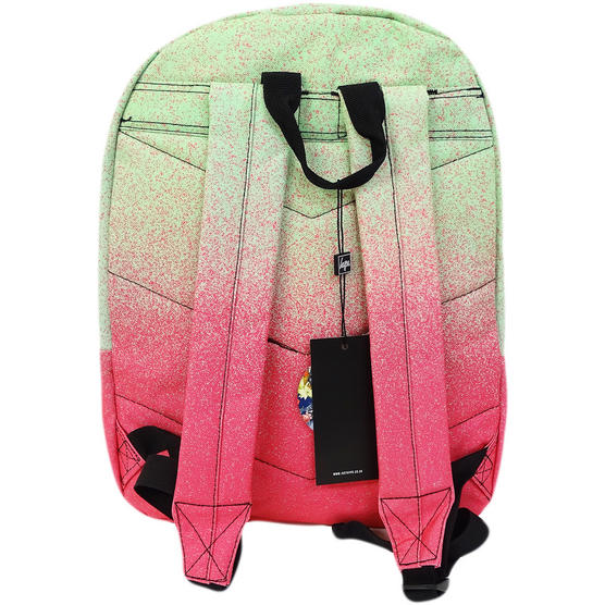 Hype Pink / Green Speckle Fade Backpack / Rucksack Bag Limeade Thumbnail 2