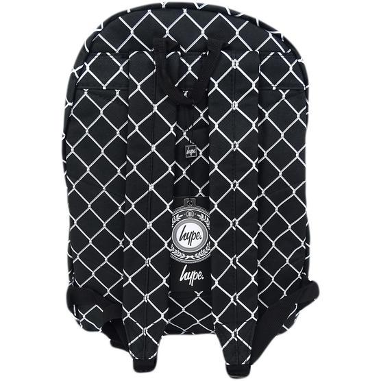 Hype Black / White Backpack Bag Mesh Fence Thumbnail 2