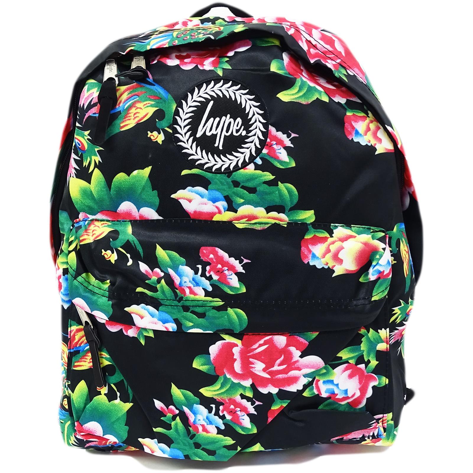 Hype Pink Flower / Lightweight Material Backpack Bag Dragon Flower