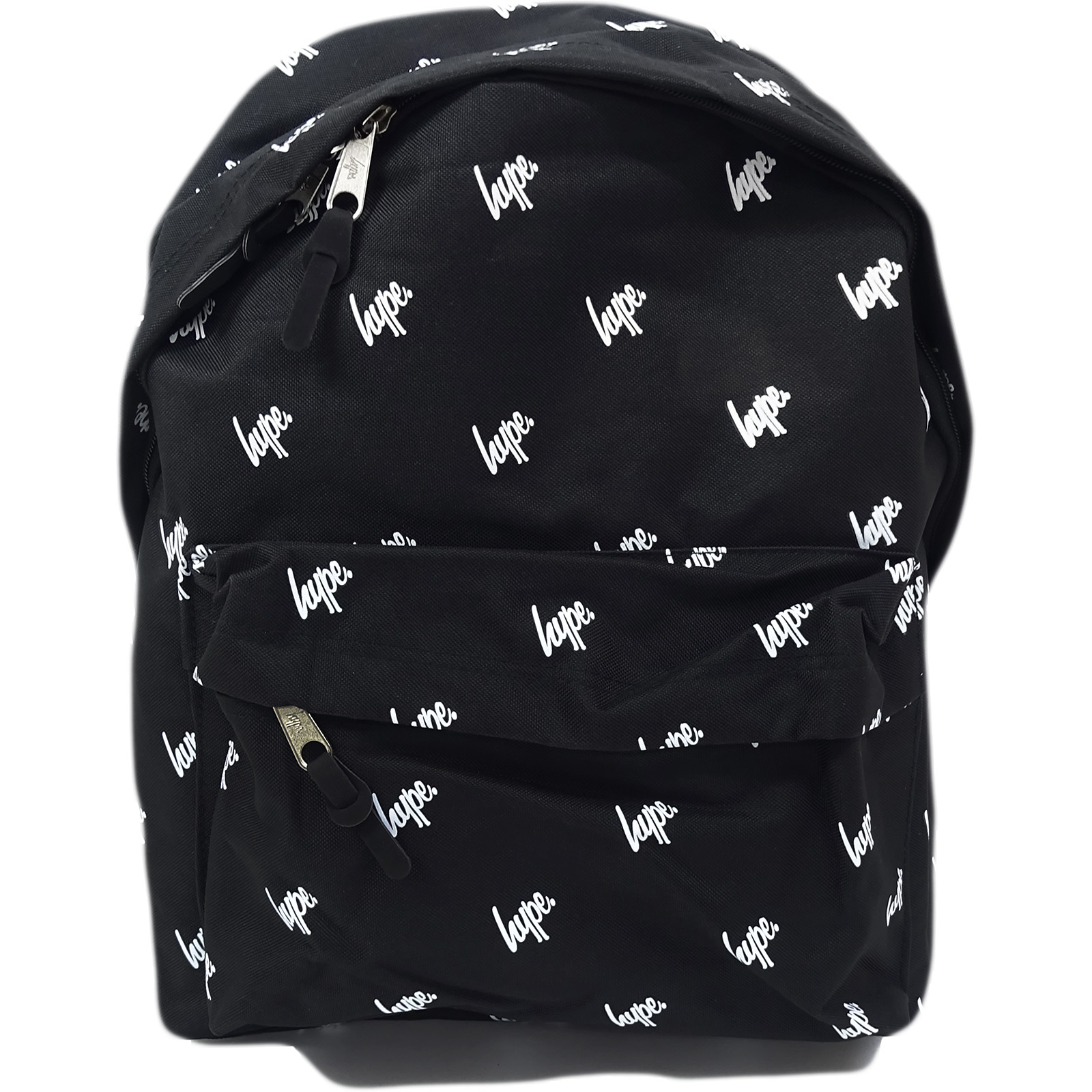 Hype Black All Over Hype Logo Backpack Bag Script Repeat