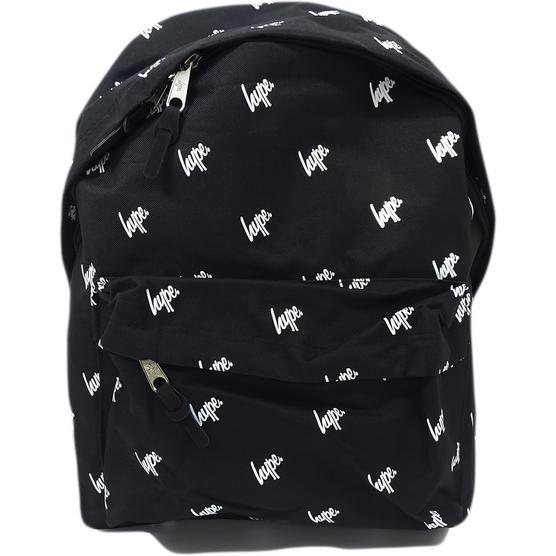 Hype Black All Over Hype Logo Backpack Bag Script Repeat Thumbnail 1