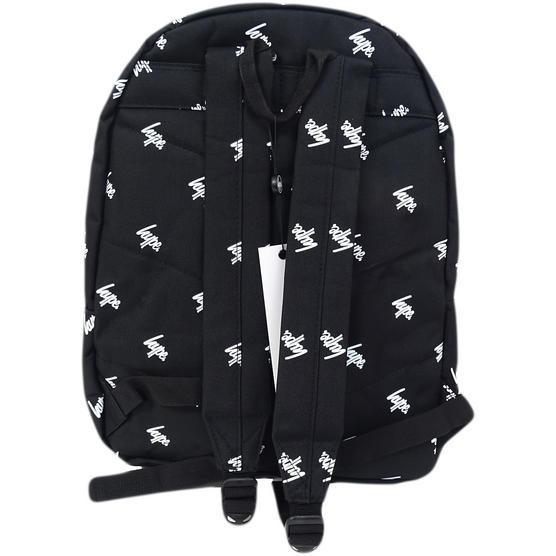 Hype Black All Over Hype Logo Backpack Bag Script Repeat Thumbnail 2