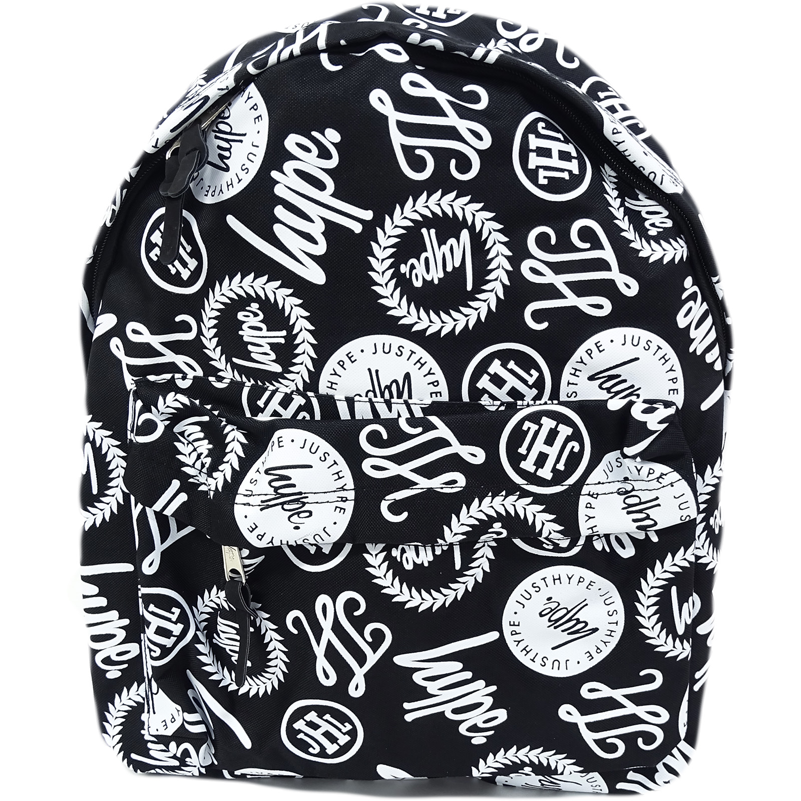 Hype Black / White All Over Hype Logo Backpack Bag Brand Aop