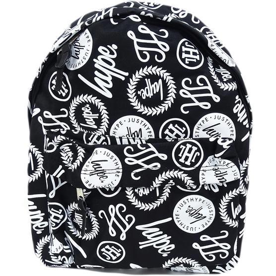 Hype Black / White All Over Hype Logo Backpack Bag Brand Aop Thumbnail 1