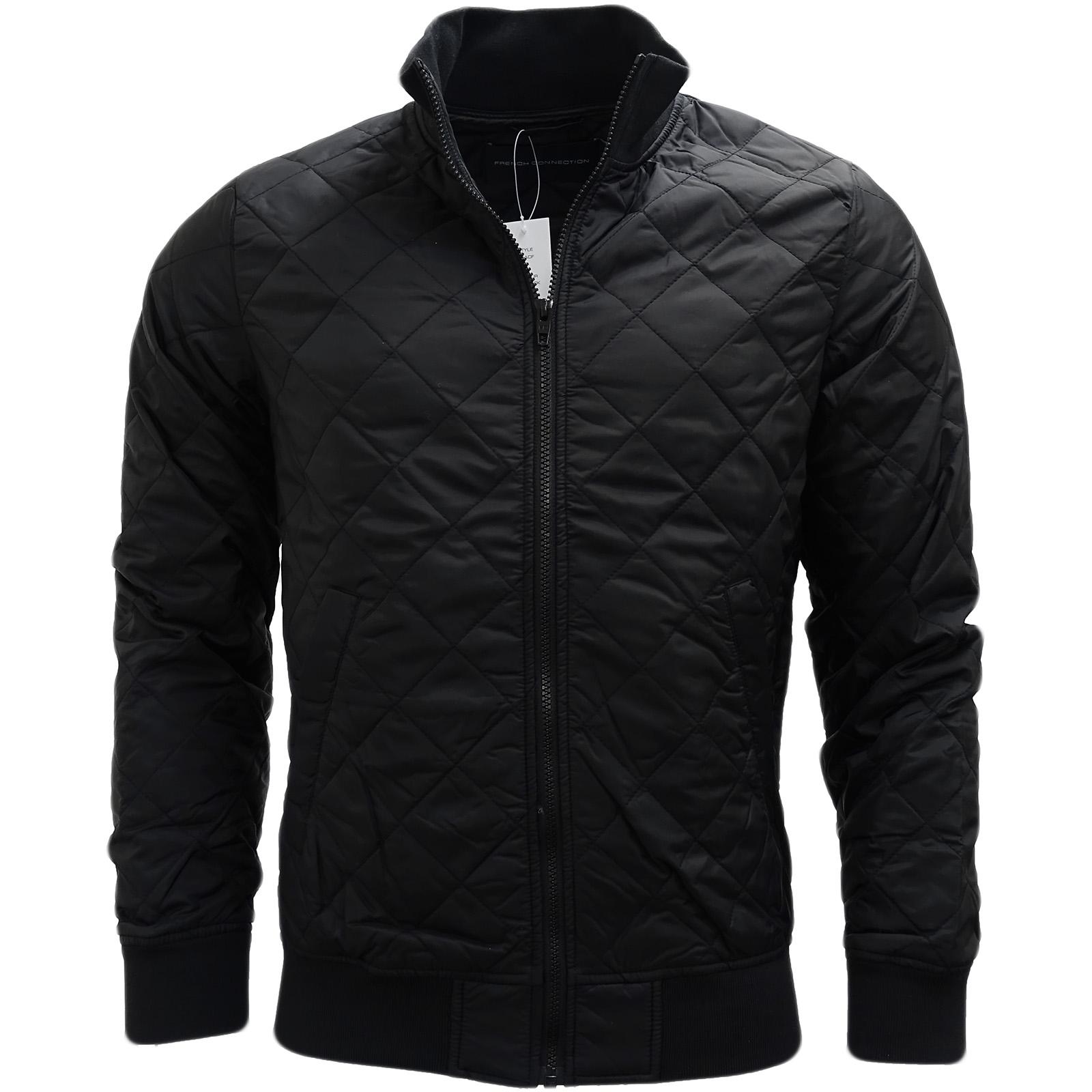 Abrigo-de-abrigo-abrigos-de-piel-de-oveja-ligera-negra-de-French-Connection