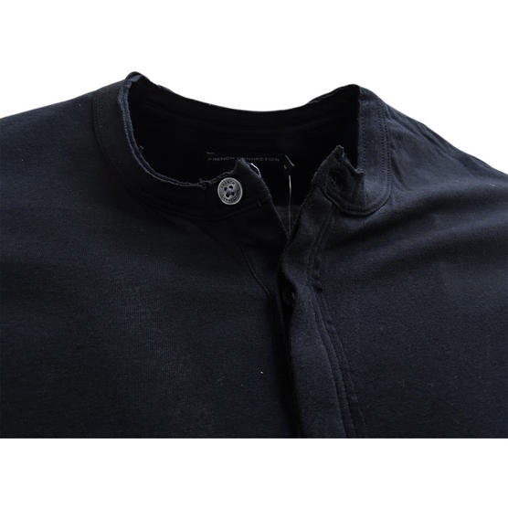French Connection Darkest Blue Plain Button Front T-Shirt 56Cl6 - Thumbnail 2