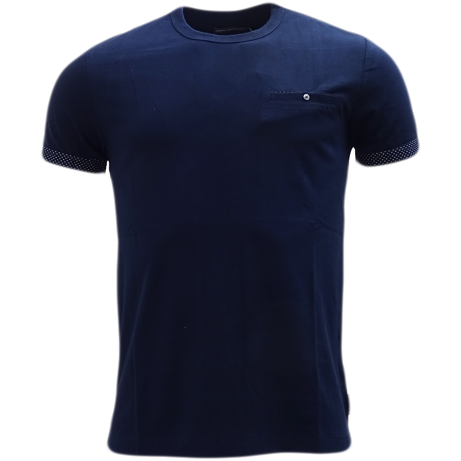 French Connection Marine Blue Plain T-Shirt 56Hfh -