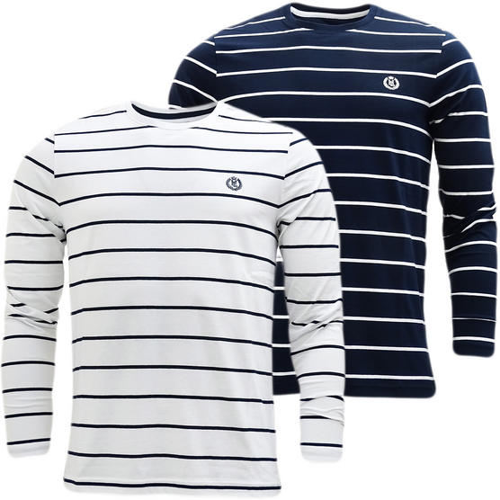Henri Lloyd Striped Long Sleeve T-Shirt Bretton Thumbnail 1