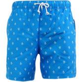 Original Penguin Blue All Over Penguin Logo Mesh Lined Swim Shorts 8026-418 -