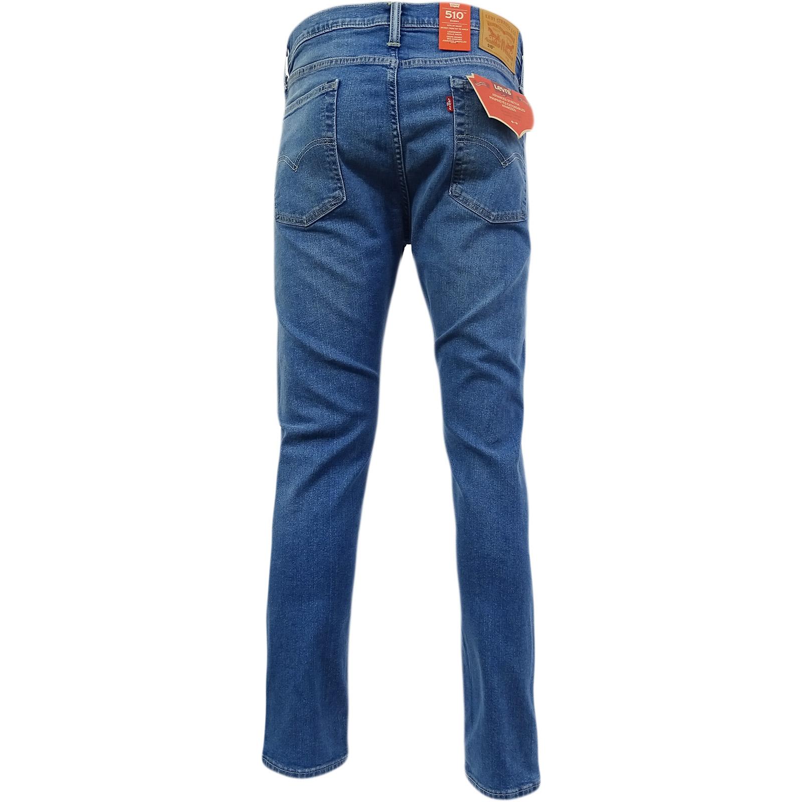 9068722b Levi Strauss 510 Skinny Leg Jean Mid Blue Stretch Huxley 07-65 | eBay