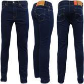 Levi Strauss Chain Rinse Dark Indigo Blue 510 Skinny Leg Jean 06-91 -