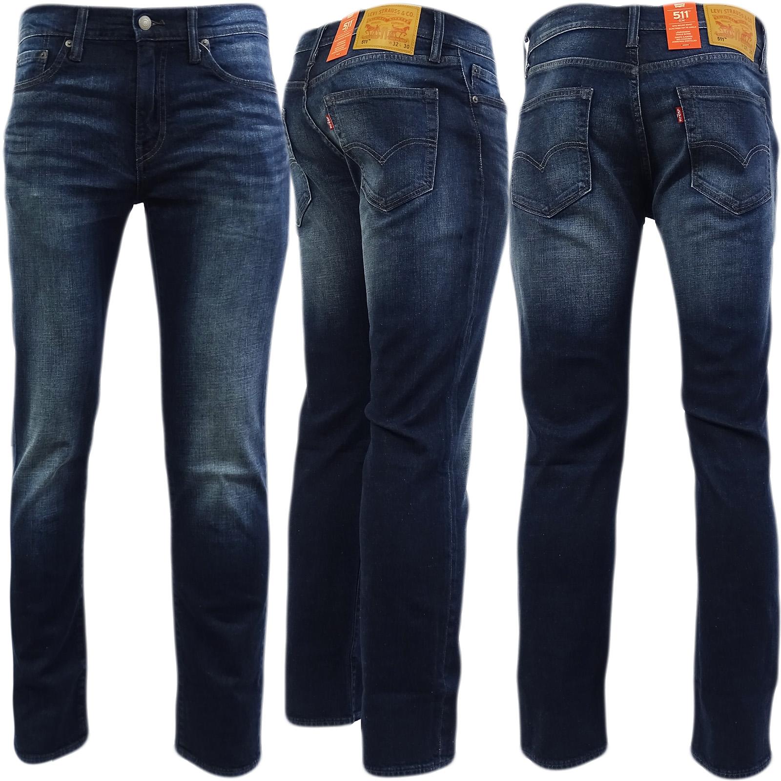 6717ae2f7c126 Levi Strauss 511 Slim Leg Jean Indigo Blue With Fading