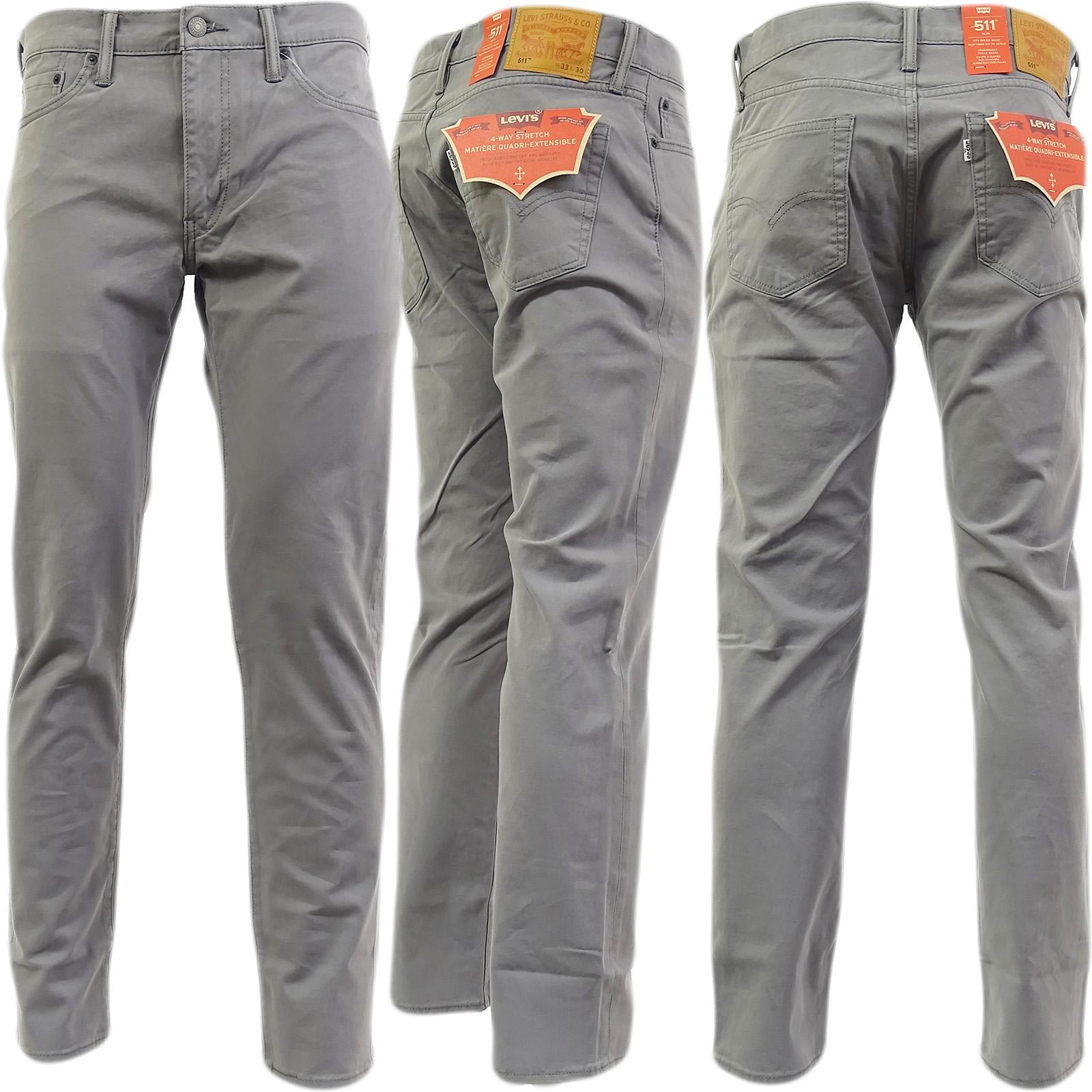 42c2df140e3 Levi Strauss 511 Slim Leg Jean Grey Chino Jean Steel Grey Grey | eBay