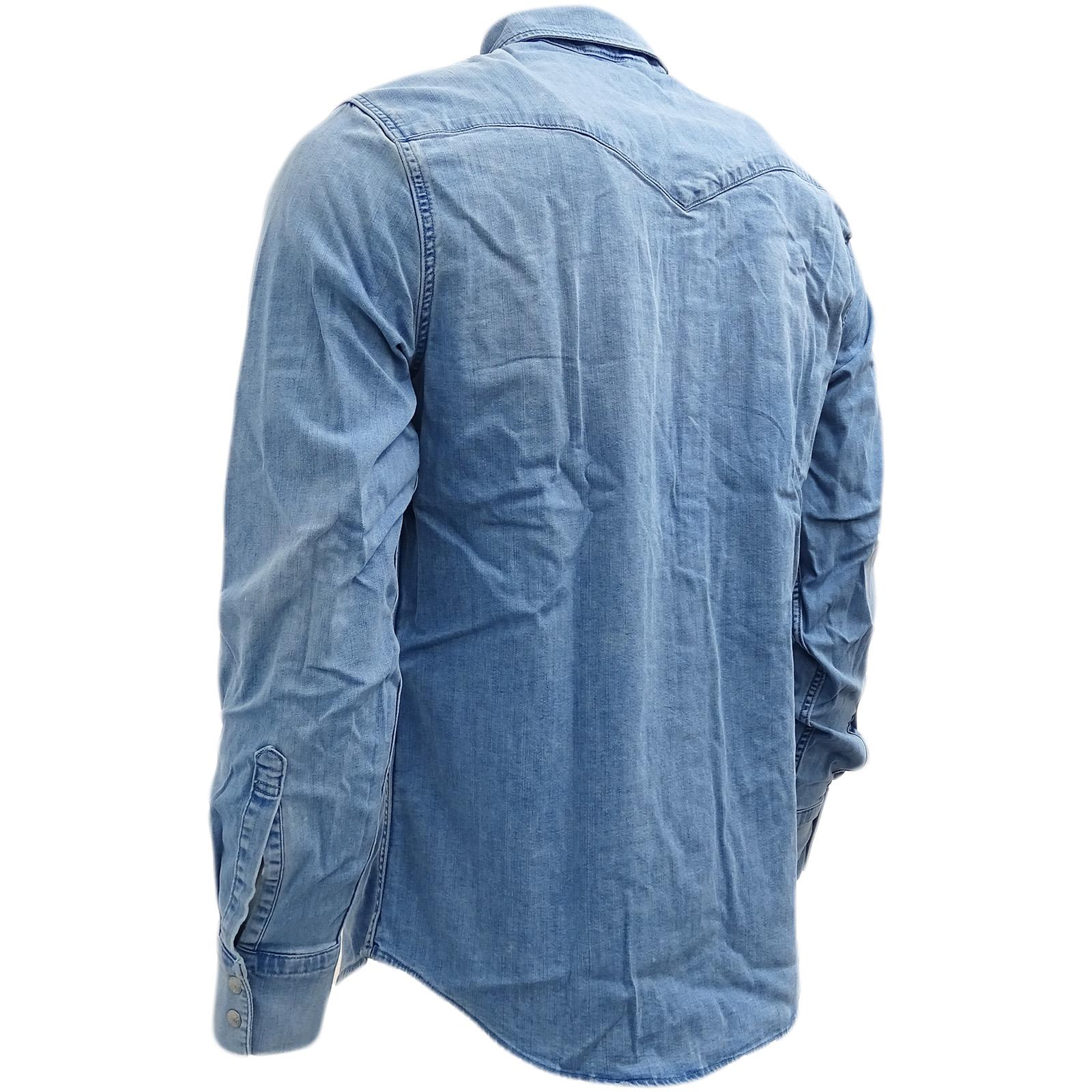 Camicia Barstow Levi Con 65816 Chiaro 0253 Occidentale Strauss Stretch Blu n75wr5Yq