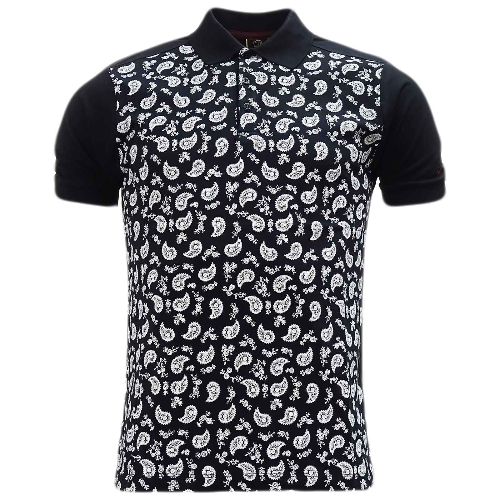 2c5d8f51c7c4 Merc Black Paisley Tear Drop Polo Shirt - Hunter