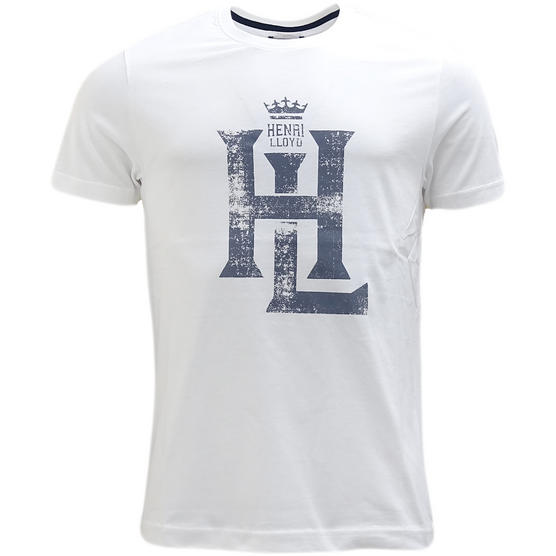 Henri Lloyd White Distressed Logo T-Shirt Owenglin - Thumbnail 1