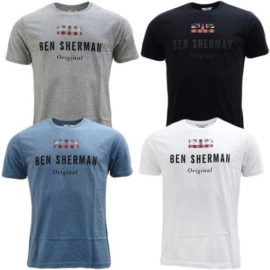 Ben Sherman Union Jack Logo T-Shirt 47813 Thumbnail 1