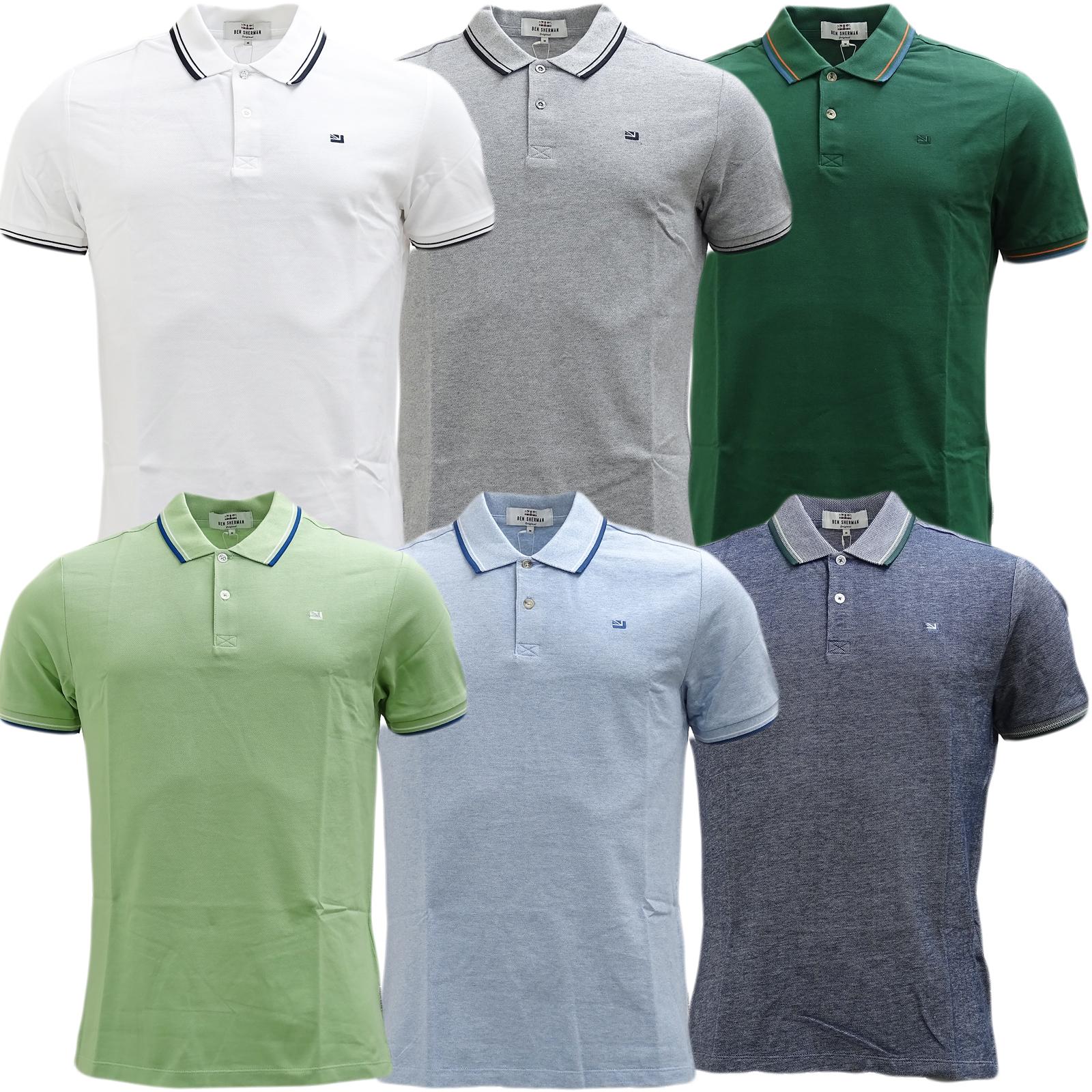 Ben Sherman Twim Tipping Collar Pique Polo Shirt 47811