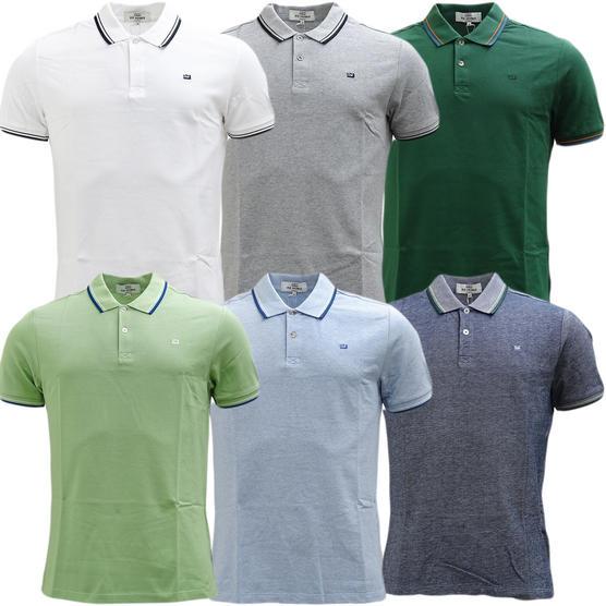 Ben Sherman Twim Tipping Collar Pique Polo Shirt 47811 Thumbnail 1