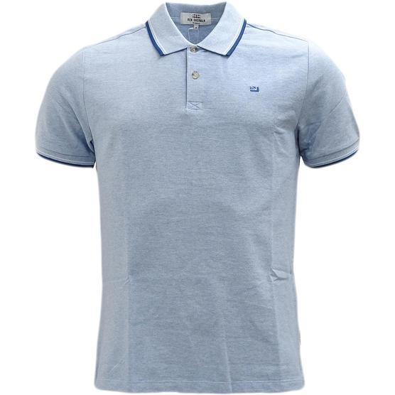 Ben Sherman Twim Tipping Collar Pique Polo Shirt 47811 Thumbnail 3